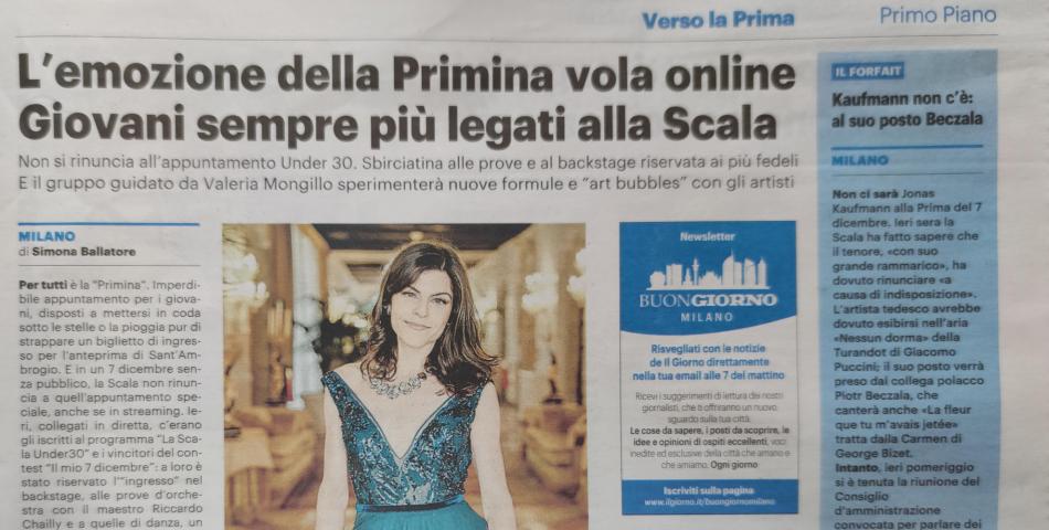 L'emozione della primina vola online: giovani sempre più legati alla Scala