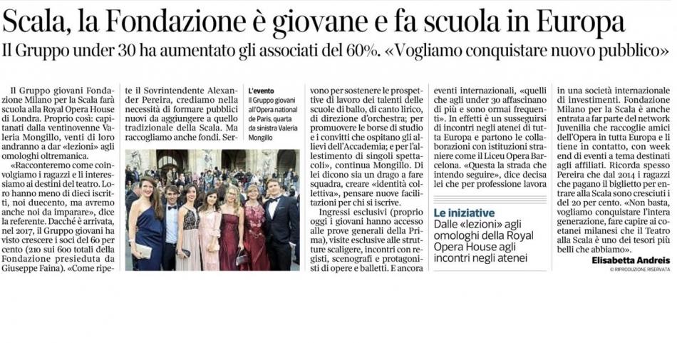 Scala, la Fondazione è giovane e fa scuola in Europa